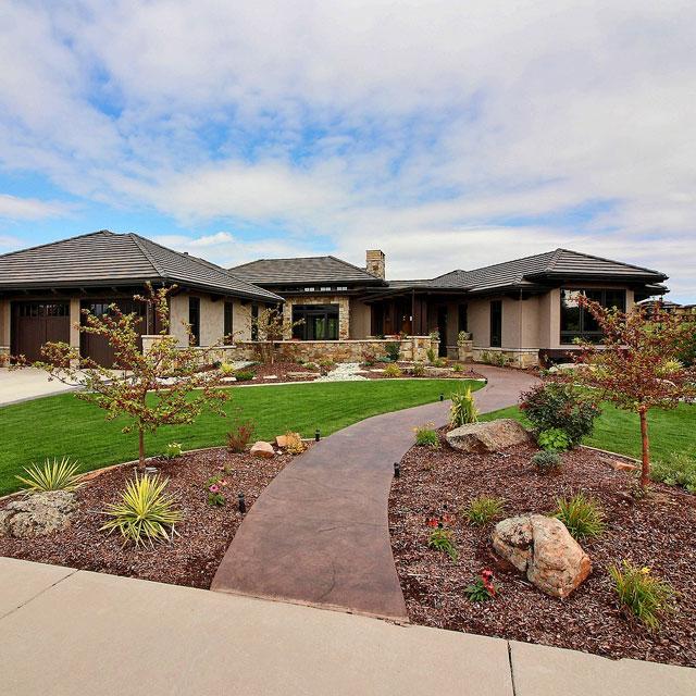 Prairie craftsman david hueter for David hueter home designs